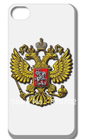 Russian National Flag& Russian Emblem Transparent Hard Case Cover for iPhone 5 5S Free shipping 1PC