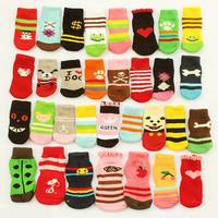 Sale! Armi store  Pet Dog Sock 81001 Fashion Design Wholesale Warm Socks For Dogs Products Latex Skid-proof 6 Sets/Lot = 24 Pcs