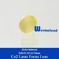 Co2 laser focus lens diameter 20mm focal length 101.6mm thickness 2mm USA ZnSe material for co2 laser cutting and engraving