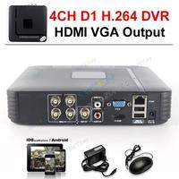 1080P HDMI Mini DVR 4CH H.264 CCTV DVR Recorder P2P Cloud 4ch Full D1 CCTV DVR Recorder