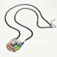 Black Shourouk Long Necklace 2014 New Free Shipping