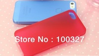 Free Shipping 1 piece  Hot Ultrathin Transparent Back Cover Phone Case for iPhone 5 5S