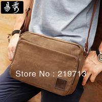 Men's Canvas Messenger Bags Multifunction Travel Bag Coffee Shoulder Bag Free Shipping