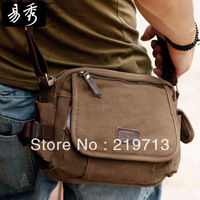 2014 Eshow Military Canvas Shoulder Bags Casual Weekend Bag Men's Messenger Bag Free Shipping