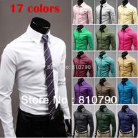 2014 Mens Slim Fit Casual Blouse Unique Neckline Stylish Long Sleeve Shirt Turn-down Collar Men's Shirts Free Shipping 1pcs/lot
