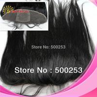 "Sunnymay Silk Straight Virgin Brazilian Human Hair 4""*4""Silk Base  13""*4"" Lace Frontal Hair Piece For Sale  ."