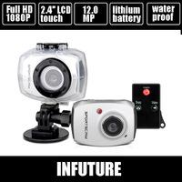 gopro similar full hd 1080p sports digital video camera 12.0 mega pixels 2.4'' touch display  camcorder DV-124SA free shipping