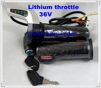 Wu Xing 36V Electric bicycle rolling handle / E-bike lithium throttle / speed adjusting & power lock/ 5 lamp power display