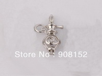 POP! 18kgp Hip flask  Aladdin Magic Lamp Pearl Bead Cage /Pendant for Jewelry, Bracelet /Necklace, Free Shipping