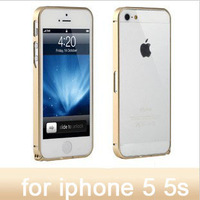 1 piece cross metal bumper gold aluminum casefor iphone 5 5s 5g