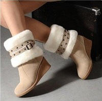 Free Shipping [4 Colors] Flock Cow Muscle Elegant Beautiful New 2013 Winter Boots for women boots ASB001