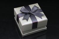 Size 7.3*7.3*4.5FUSSEM Wholesale Black Bow Jewerly Box Necklace Box Gift Box Present Box Hot Sale