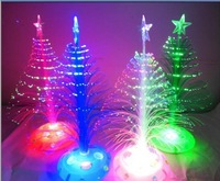 Fiber optic christmas tree flower light emitting large colorful in the three-dimensional christmas tree 30cm home decoration