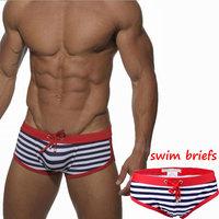 Sexy Men's swimwear male stripes Swim Trunks men listrada swimsuit S-XL striped swim shorts bikini swimsuit men bathing trunk