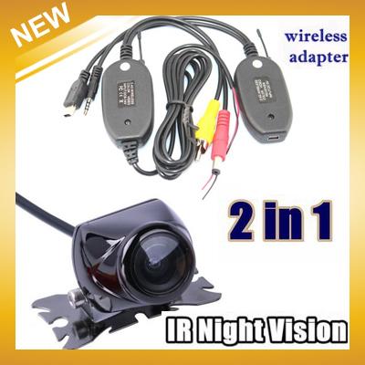 Free Shipping , 170 degree Angle HD IR Night Vision Reversing Camera + 2.4G Wireless Adaptor for car GPS KIT(China (Mainland))