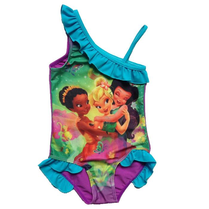 Einzelhandel neue kinder fee meerjungfrau liebe blau ariel bademode