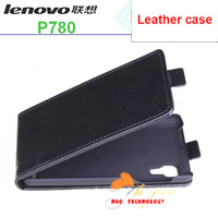 Free Shipping 100% Original high quanlity Lenovo P780 Leather Case Black In Stock Lenovo P780 Case