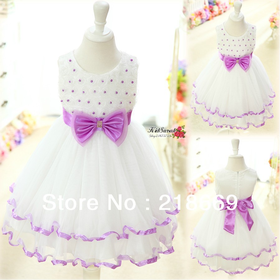 1pc-Retail-NEW-2014-Summer-girl-dress-lace-bow-princess-dress