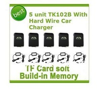 5 Unit GPS Tracker GPS/GSM/GPRS TK102B Support TF Card With H-W Car Charger