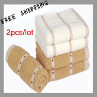 [TOWEL] 33*76 cm 100g 2pcs/lot 100% Cotton Super Absorbent Soft Dot Towels Washcloth Face Towel Sport Brand Towels For Baths