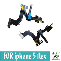 5 pcs/lot  For iPhone 5 5G Front camera with sensor flex cables Ribbon Free shipping for Singapore