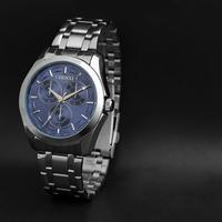 Free Original Box Brand Classical New 2014 Waterproofed Quartz Watch watches mens Bule Black Freeship 024B