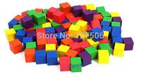 Free shipping 100piece/set big wooden cube building blocks child mathematics teaching aids toy children birthday Christmas gift