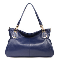 First-layer Cowhide Leather Handbags Women Casual Style Brand Messenger Womens Bags Europe Crafts Z0866