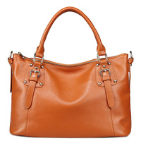 2014 Autumn-Winter British Style Genuine Leather Handbags Women Rivet Vintage Shoulder Messenger Bags Z0863