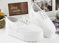 Fashion Women platform Flats shoes White Red green canvas casual canvas Women sneakers shoes 2014
