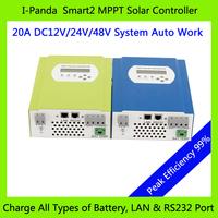 New Product 48V 20A  MPPT solar charge controller 48V 20A PV  Regulator  286W (12V)/ 572W (24V)/ 1144W (48V)