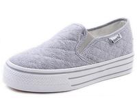 Canvas casual 3cm platform Breathable canvas sneakers shoes woman 2014