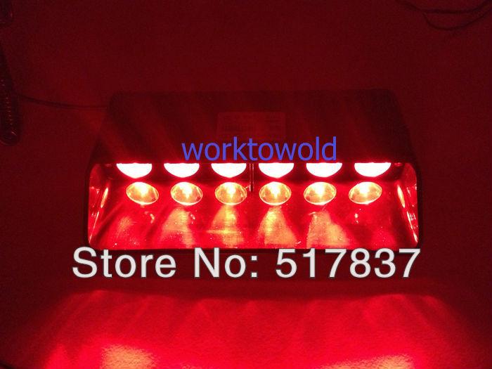 """Led Warning Emergency Windshield Super Bright 7"""" Strobe Dash Flash Light 6 LEDs red(China (Mainland))"""