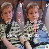 2 pcs/lot free shipping baby car safety belt adjuster/child safety belt positioner Blue color