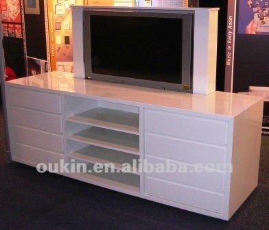 24 v motor LCD tv lifting stroke 200mm ceiling equipment bed tv lift(China (Mainland))