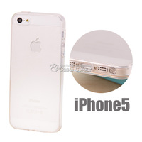 Free shipping 1pc Slim Transluscent Back cover SOFT Rubber gel case for Apple iphone 5 5s with dust plug drop shipping