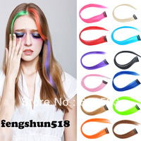 50pcs Straight cosplay party color hair extensions -size:40*3.5cm 12 Colors AP09