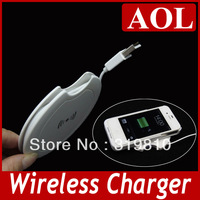 Portable Ultra Slim Qi Wireless Charging Pad Wireless Charger for  All QI Cell Phones Samsung S4 S3 Note 2 Note3 iphone 4/4s/5