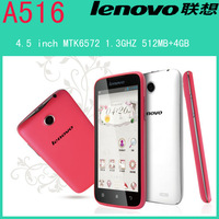 Original Lenovo A516 phone MTK6572 dual-core Android 4.2.2 smartphone 512MB+4GB GPS 3G Dual camera