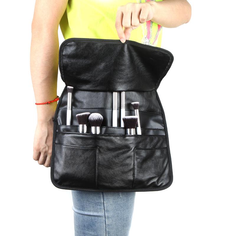 Professional PU Bag Cosmetic Makeup Brush Apron Bag Make up Waist Holder Strap Bag(China (Mainland))