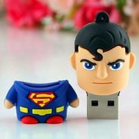 New! USB flash drive Creative Design Superman Pen Drive Data Storage pen drive 8GB 16GB 32GB 64GB USB Flash memory stick