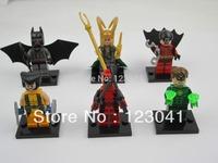 Free shipping High quality Super Heroes Batman/Robin/Loki/Green Lantern Action Building Blocks Figure Toys