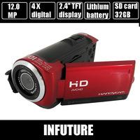 12.0 mega pixels digital video camcorder with 2.4'' TFT HD screen 270 degree rotation 8 digital zoom camera free shipping DV-20