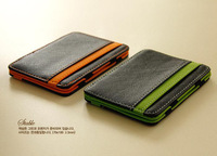2014 New Arrival Creative Leather Magic Wallets Clips for Credit Cards and Cash Money (WP153)