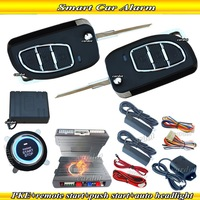NEW smart car alarm system,passive keyless entry,auto lock or unlock,ignition button start,universal RFID alarm system,CE pass