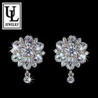 UMODE Princess Flower Top Quality Marquise Cut CZ Stud Earring (Umode UE0022)
