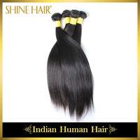 rosa hair products Indian Virgin Hair Straight Hair 6A Human Hair Weaves Natural Colors Freeshipping,Retail 4Bundles/lot