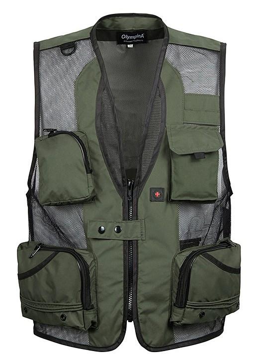 mens christmas fishing equipment cardigan vests waistcoat plus size XXXL 5XL outerwear clothing photographer sleeveless jacket(China (Mainland))