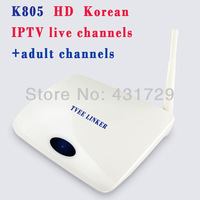 K805 Korean HD iptv box + 1 year subscription,>35 korean live tv channels,>20 adult channels,free movies,hd Korean iptv channels