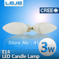 10pcs/lot led bulb e14 3w 220v LED candle light lamp, warm white, e14 led 220v candle, e14 warm white free shipping